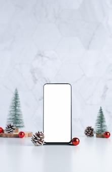 Smartfon z świąteczną dekoracją