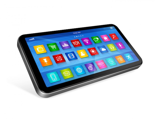 Smartphone touchscreen hd - interfejs ikon aplikacji