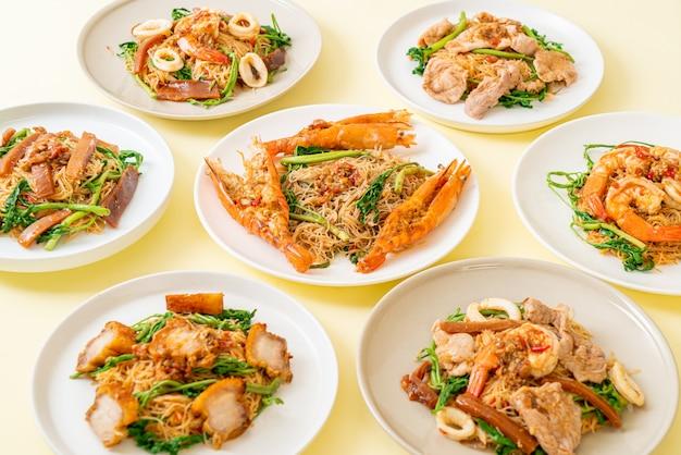 Smażone wermiszel ryżowy z polewą mix