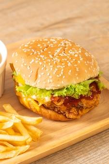 Smażony kurczak burger
