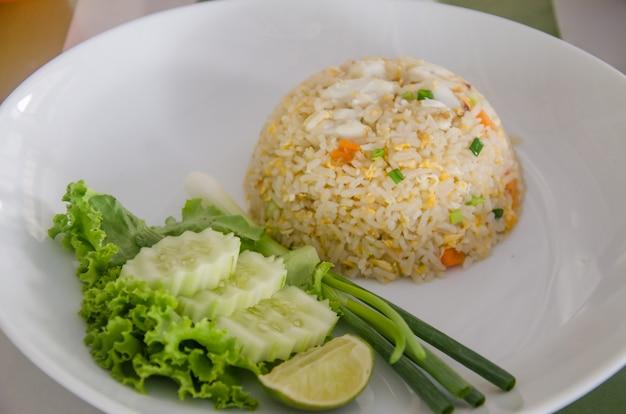 Smażony ryż krab