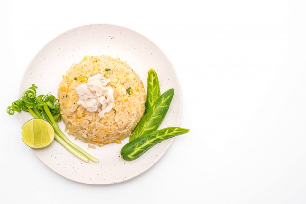Smażony ryż z krabem