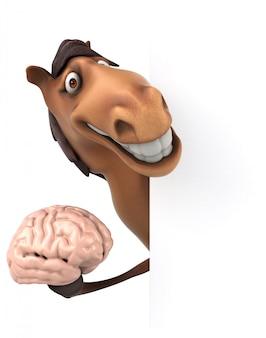 Śmieszna końska ilustracja