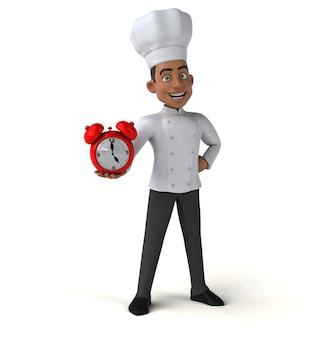 Śmieszna szef kuchni ilustracja