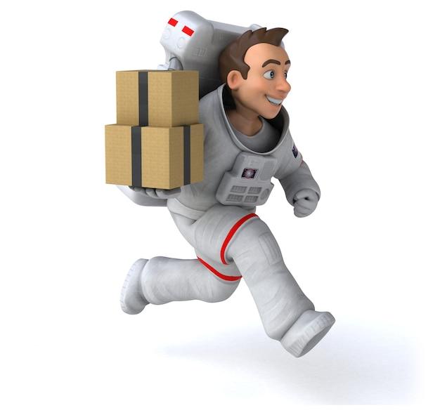 Śmieszne astronauta ilustracja 3d