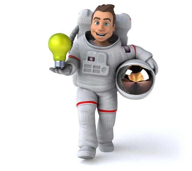 Śmieszne Astronauta Ilustracja 3d Premium Zdjęcia