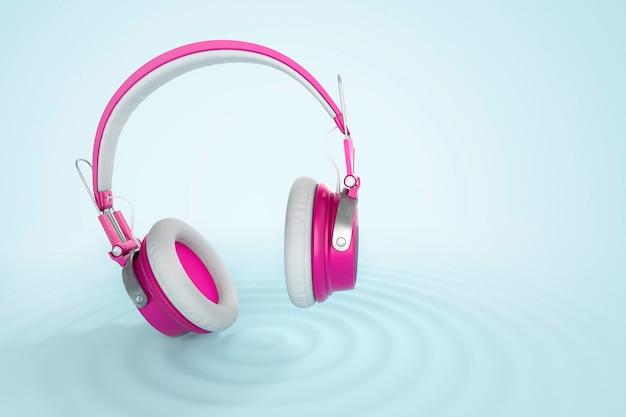 Śmieszne, jasne słuchawki bezprzewodowe