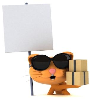 Śmieszne kot ilustracja 3d
