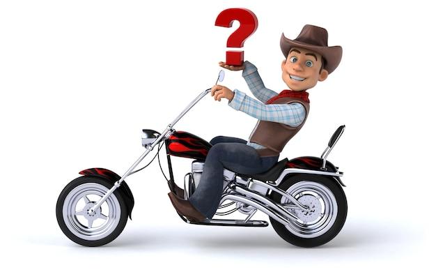 Śmieszne kowboj ilustracja 3d