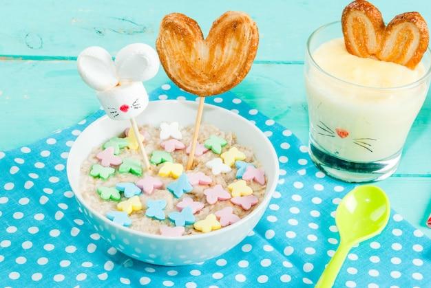 Śmieszne śniadanie dla dzieci na wielkanoc