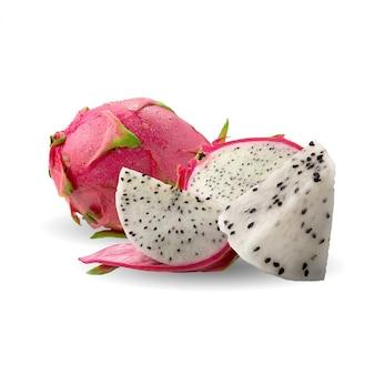 Smok owoc lub pitaya na bielu