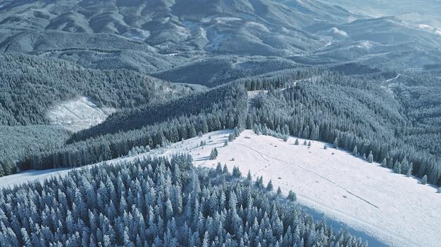 Śnieg stok narciarski w górskiej antenie aktywny sport i rekreacja nikt natura krajobraz ekstremalny