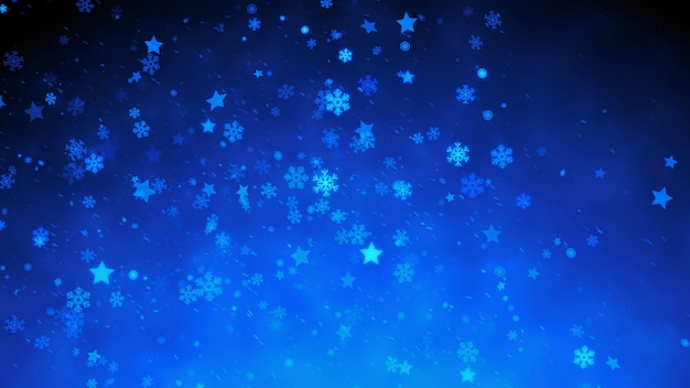 Śnieżne magiczne cząsteczki