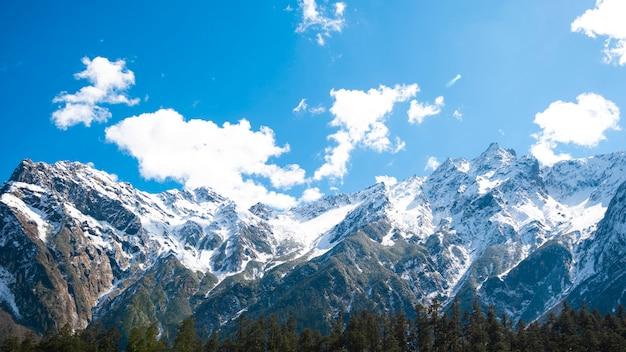 Snow mountain blue sky