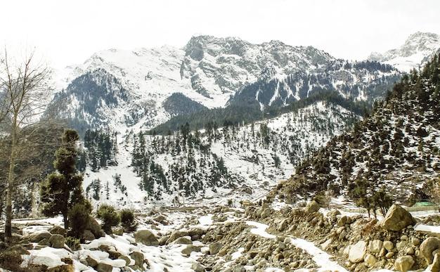 Snow mountain w kalam swat scenery landscape