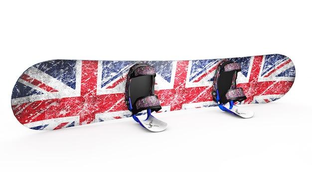 Snowboard na białym renderowaniu 3d
