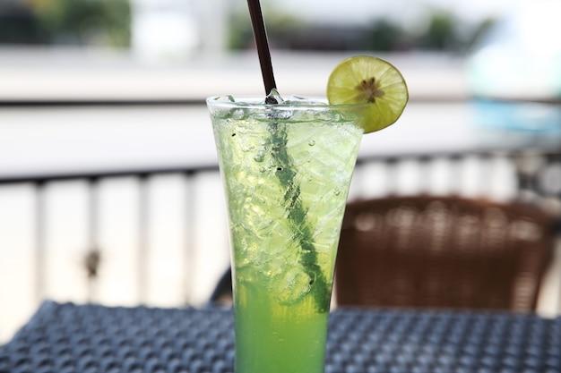 Soda melonowa z limonką