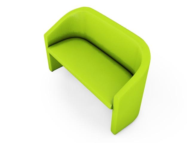 Sofa na białym tle renderowania 3d