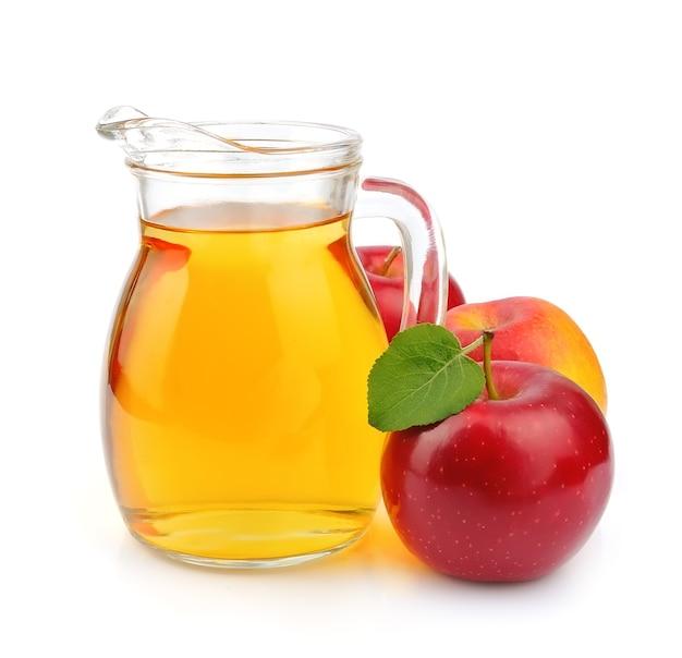Sok Jabłkowy Na Białym Tle. Drink Premium Zdjęcia