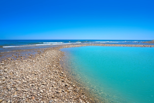 Sol del riu plaża alcoceber lub alcossebre