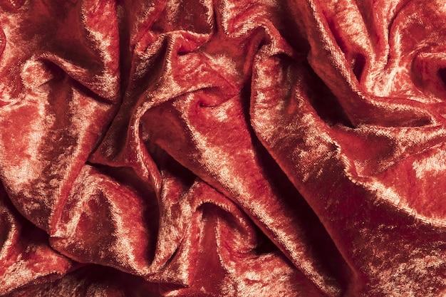 Solidne, kręcone błyszczące czerwone tkaniny na zasłony