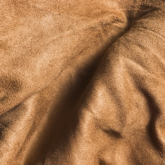 Solidne, kręcone brązowe tkaniny na zasłony