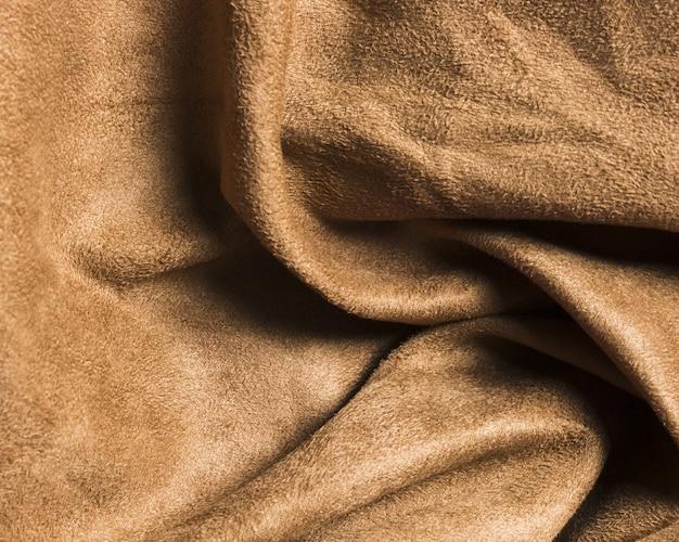 Solidne, kręcone piaskowo-brązowe tkaniny na zasłony