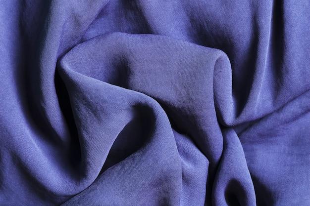 Solidne, kręte niebieskie tkaniny na zasłony