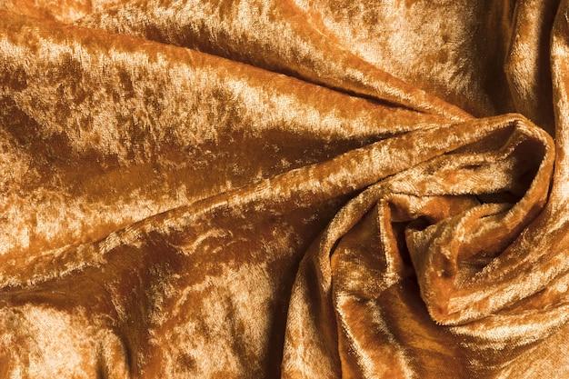 Solidne, okrągłe, błyszczące, żółte tkaniny na zasłony