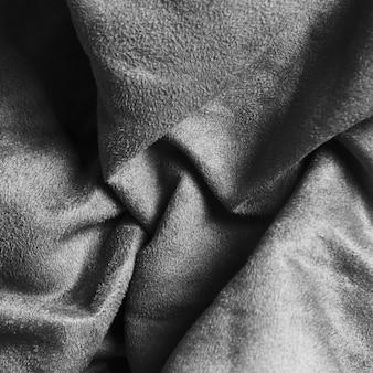 Solidne, okrągłe srebrne tkaniny na zasłony