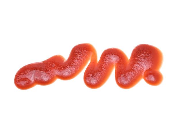 Sos pomidorowy na białym tle