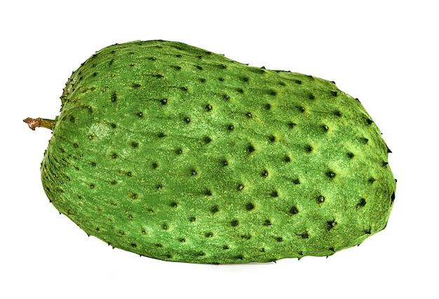 Soursop, prickly custard apple na białym tle