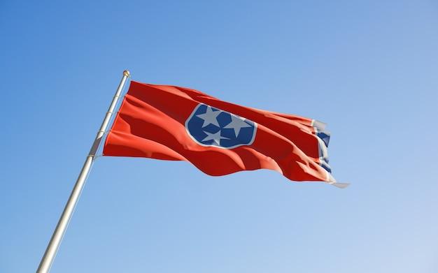 South tennessee us state flag niski kąt