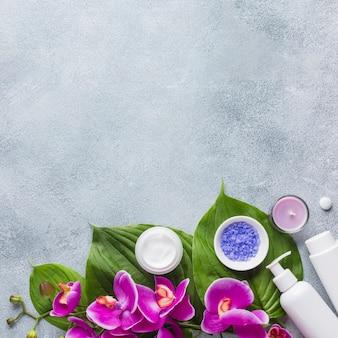 Spa martwa natura z kosmetykami