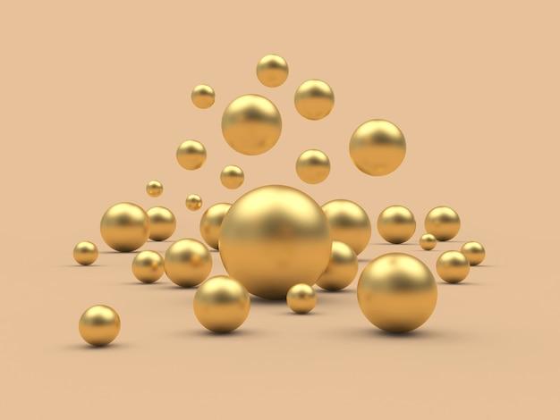 Spadają złote kule lub kule