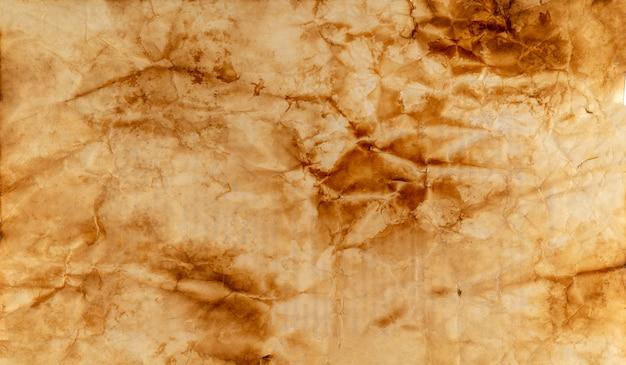 Spalona stara kartka papieru