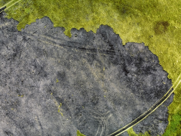 Spalona ziemia - widok z góry
