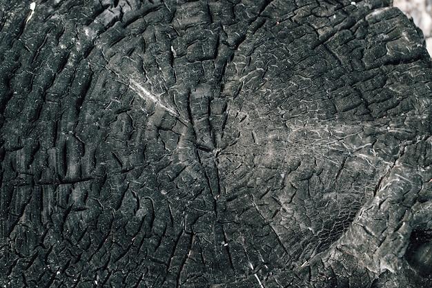 Spalone drewno tekstury, węgle. miejsce na tekst.