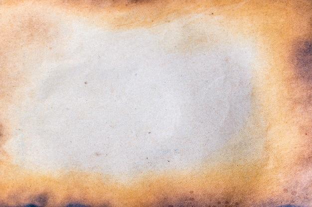 Spalony papier.