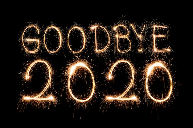 Sparkling goodbye 2020