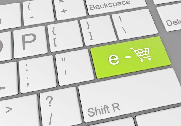 """Specjalny przycisk """"e-commerce"""" na klawiaturze laptopa"""
