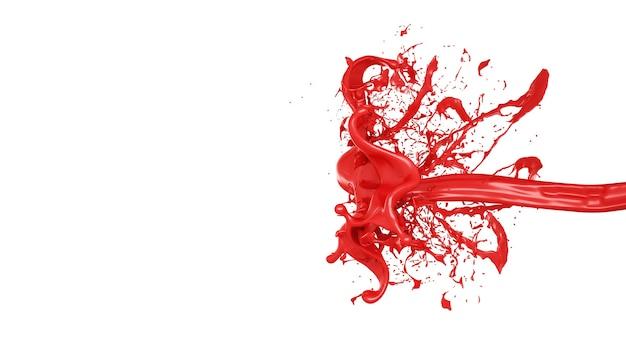 Splash farby. ilustracja, renderowanie 3d.