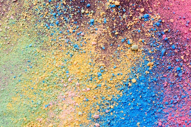 Splatter pastelowego naturalnego barwnego proszku