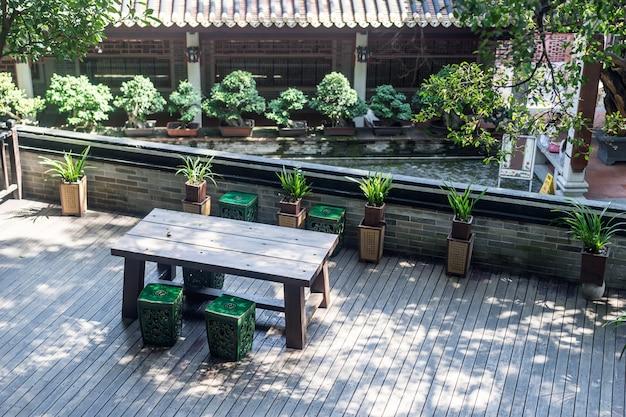Spokojne miejsce z roślinami