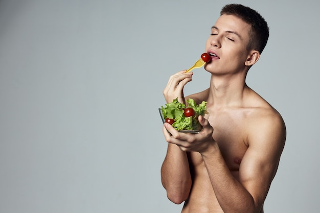 Sport człowiek treningu zdrowy styl życia energii żywności z izolowanym tłem