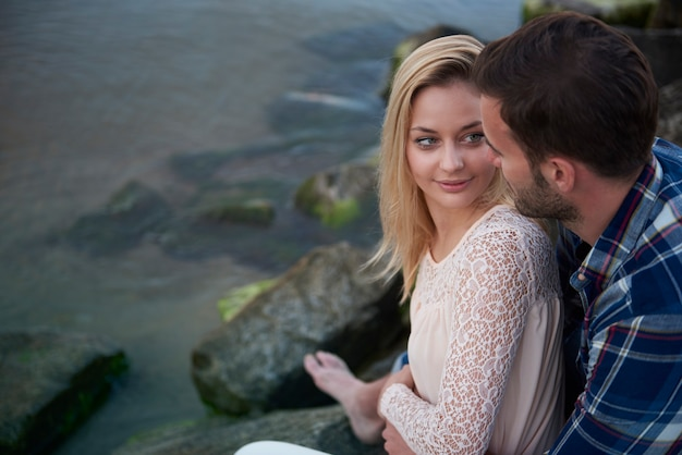 Spotkanie z pierwszą miłością na plaży