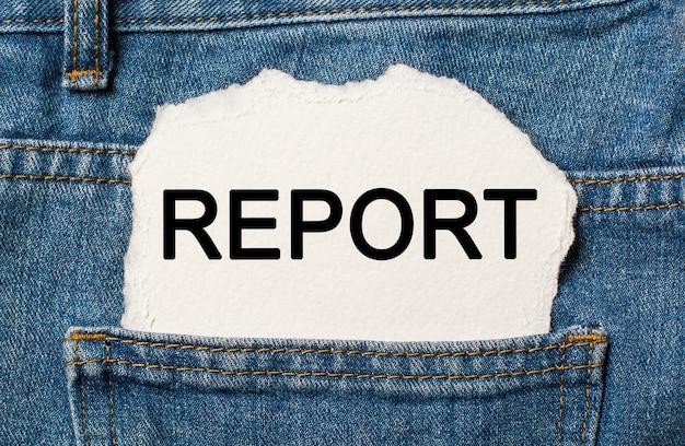Sprawozdanie na temat rozdartego papieru na tle koncepcji biznesowej i finansowej dżinsów