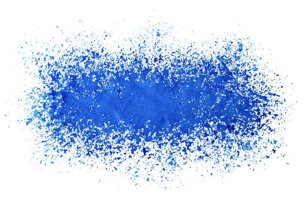 Spryskany pasek niebieskiej farby. streszczenie tło grunge. ilustracja rastrowa