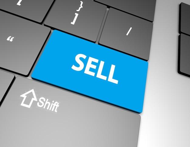 Sprzedaj wiadomość na klawiaturze, aby coś sprzedać lub sprzedać koncepcję na giełdzie.
