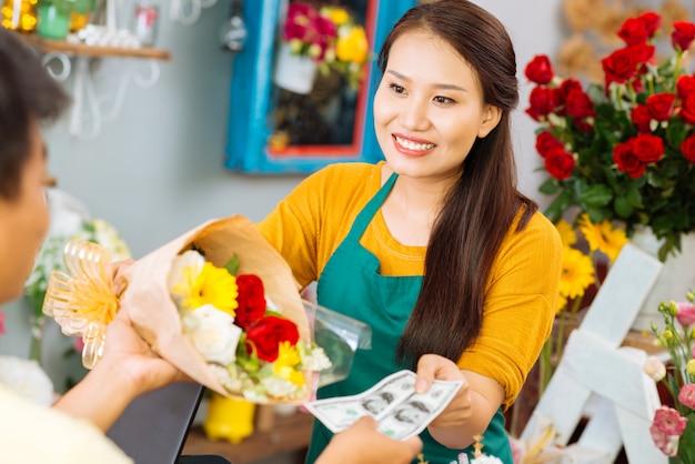 Sprzedawanie kwiatów